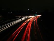 Straat bij nacht Stock Fotografie