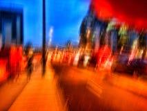 Straat bij nacht met lichten Royalty-vrije Stock Fotografie