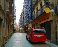 Straat in Bilbao, Spanje Royalty-vrije Stock Afbeeldingen