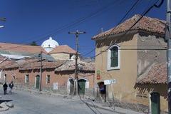 Straat in Bolivië stock foto's