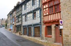 Straat in Bretonse stad Stock Foto