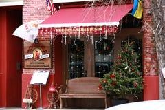 Straat buiten restaurant New York Royalty-vrije Stock Afbeelding