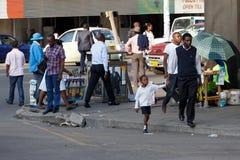 Straat in Bulawayo Zimbabwe stock afbeeldingen