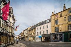 Straat in Cambridge Royalty-vrije Stock Foto