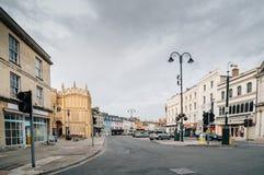 Straat in Cambridge Stock Foto's