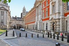 Straat in Centraal Londen westminster Royalty-vrije Stock Foto's