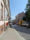 Straat in Chernovtsy royalty-vrije stock afbeelding