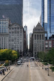 Straat in Chicago, de V.S., Stock Foto