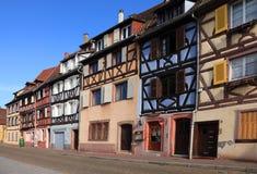 Straat in Colmar stock foto's