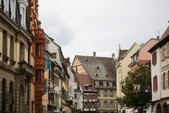 Straat in Colmar Royalty-vrije Stock Foto's
