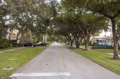 Straat in Coral Gables Stock Foto