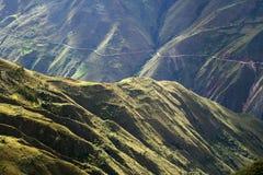 Straat in de Andes Stock Foto