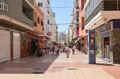 Straat in de Canarische Eilanden van Las Galletas Tenerife Stock Foto's