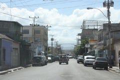 Straat in de Cumana-stad royalty-vrije stock foto