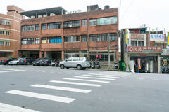 Straat in de kleine stad Royalty-vrije Stock Afbeeldingen