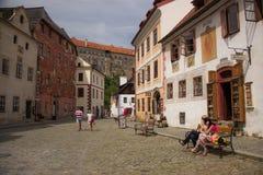 Straat in de oude stad Stock Fotografie