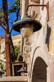 Straat in de oude stad Goreme Goreme, Cappadocia, Nevsehir-Provincie, Centraal Anatolië, Turkije stock fotografie