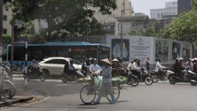 Straat in de Oude Stad van Hanoi royalty-vrije stock afbeeldingen