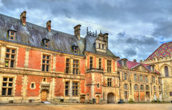 Straat in de oude stad van Sens - Frankrijk Stock Fotografie