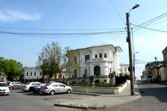 Straat in de stad Braila, Roemenië Royalty-vrije Stock Foto's