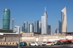 Straat de stad in in de Stad van Koeweit Royalty-vrije Stock Afbeeldingen