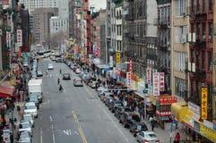 Straat in de Stad van China van de Stad van New York Royalty-vrije Stock Afbeelding