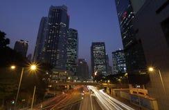 Straat in de stad van Hongkong Stock Afbeelding