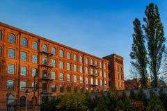 Straat in de stad van Lodz, Polen royalty-vrije stock fotografie
