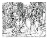 Straat in de Stad van New York stock illustratie