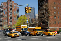 Straat in de Stad van New York Stock Afbeeldingen