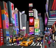 Straat in de stad van New York Royalty-vrije Stock Foto