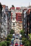 Straat in de stad van Santander Royalty-vrije Stock Fotografie