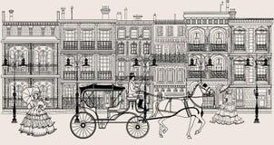 Straat in de stijl van New Orleans Royalty-vrije Stock Afbeeldingen