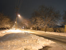 Straat in de winter Royalty-vrije Stock Foto
