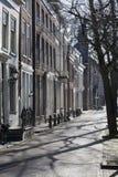 Straat in Delft stock foto's
