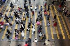 Straat die in Hongkong kruist Royalty-vrije Stock Afbeeldingen
