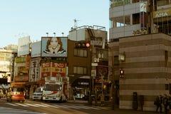 Straat door Yoyogi St in Tokyo, Japan stock foto