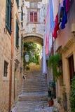 Straat in Dubrovnik Royalty-vrije Stock Foto's
