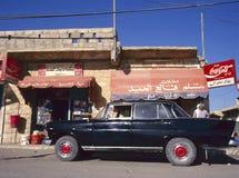Straat in een klein dorp, Jordanië Stock Foto's