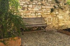 Straat in een stad van Toscanië Royalty-vrije Stock Afbeelding