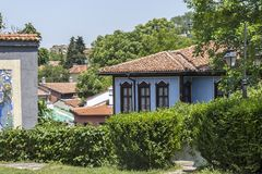 Straat en de 19de eeuwhuizen in architecturale en historische reserve de oude stad in CIT royalty-vrije stock foto