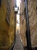 Straat en een lamp royalty-vrije stock afbeeldingen