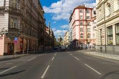 Straat en het dagelijkse leven van de stad Stock Foto