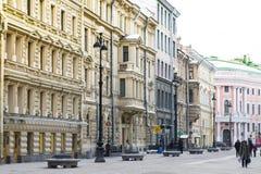 Straat in Europese stijl Stock Foto