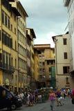 Straat in Florence Stock Foto's