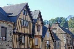Straat in Fougeres, Frankrijk royalty-vrije stock foto's