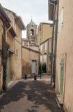Straat in Frankrijk Stock Afbeeldingen