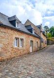 Straat in Frans Bretagne Stock Afbeeldingen