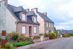 Straat in Frans Bretagne Royalty-vrije Stock Fotografie