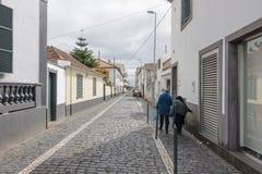Straat in Funchal Stock Foto